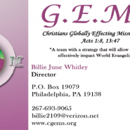 C-GEMS Business Cards