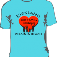 Kirkland Family Reunion T-shirts
