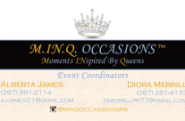 MINQ Occasions Business Cards