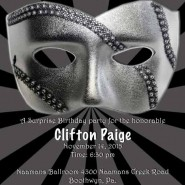 Surprise Masquerade Party Invitation