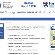 2016 Spring Symposium and Kroc Lecture