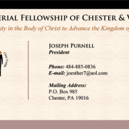 Ministerial Fellowship Business Cards