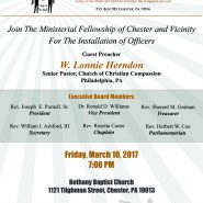 Ministerial Fellowship Installation
