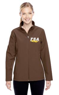 FSA Brown Softshell Ladies Jacket