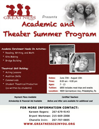 Academic and Theater Summer Program